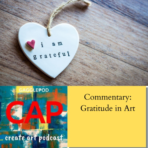 heart pendant on rope necklace with podcast logo and episode title