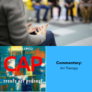 person sitting infront of a group for therapy, cap logo