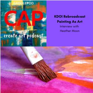 paintbrush on painted canvas, CAP Logo